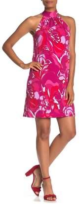 Trina Turk trina Craving Mock Neck Sleeveless Shift Dress