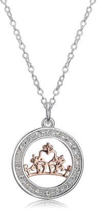 Disney Womens Round Princess Pendant Necklace