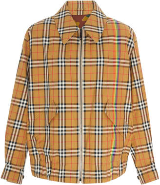 Burberry Reversible Plaid Cotton-Twill Jacket