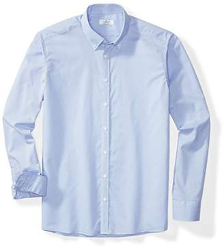Clifton Heritage Men's Big&Tall Classic Fit Long-Sleeve Button-Down Casual Houndstooth Shirt LT