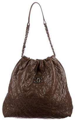Chanel Elastic CC Large Shopping Tote