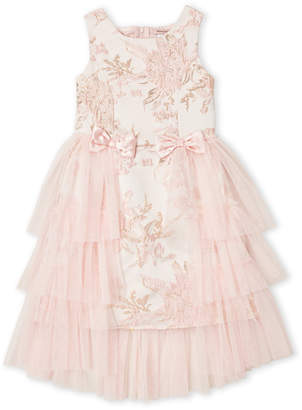 Nanette Lepore Girls 7-16) Floral Jacquard & Tulle Dress