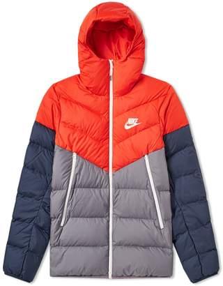 Nike Down Filled Hooded Windrunner Jacket