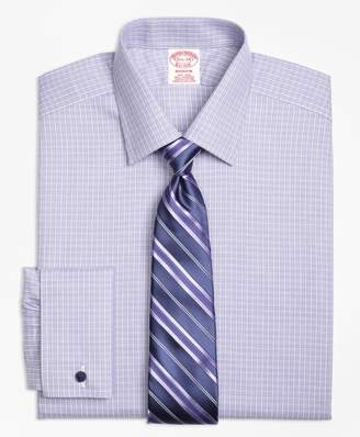 Brooks Brothers Madison Classic-Fit Dress Shirt, Non-Iron French Cuff Double Windowpane
