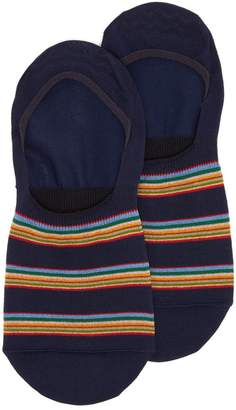 Paul Smith Striped cotton-blend invisible socks