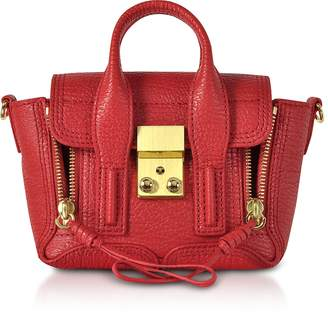 3.1 Phillip Lim Red Leather Pashli Nano Satchel Bag