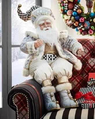 Mackenzie Childs MacKenzie-Childs Silver Twinkle Santa Figure