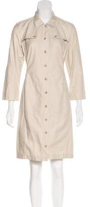 Max Mara Weekend Button-Up Long Sleeve Dress