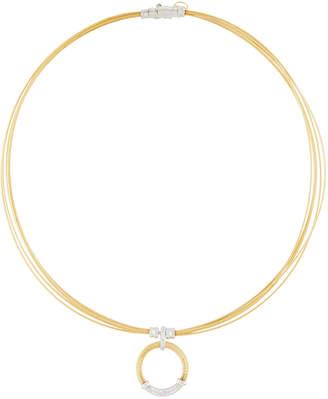 Alor Classique Cable & Diamond Pendant Necklace Yellow