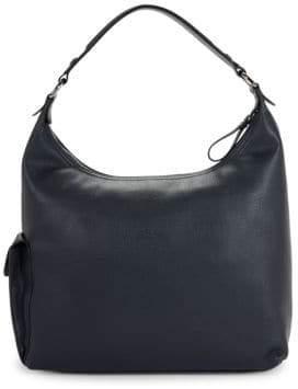 Longchamp Le Foulonne Leather Hobo Bag
