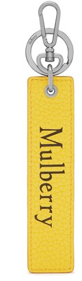Mulberry Snap Hook Keyring Black and Yellow Gaucho