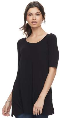 Juniors' SO Solid Elbow Sleeve Tunic