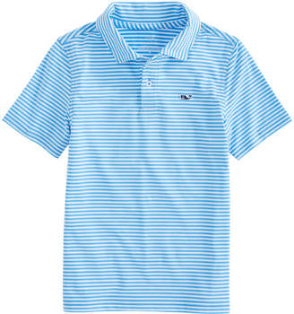 Vineyard Vines Boys Winstead Stripe Sankaty Performance Polo