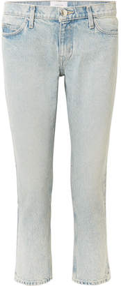 Current/Elliott The Cropped Mid-rise Straight-leg Jeans - Light denim