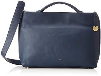 Skagen Damen Tasche Mikkeline - Satchel, Women's Blau (Ink), 9.5x26x33.5 cm (B x H T)