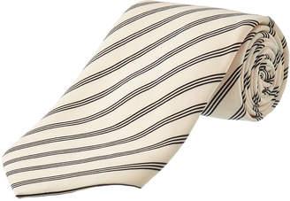 Dolce & Gabbana Light Pink & Black Stripe Silk Tie