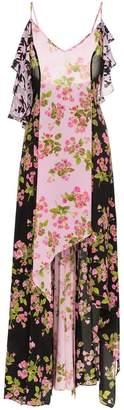 Natasha Zinko Rose Print Silk Maxi Dress