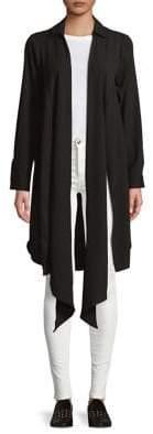 Kensie Long-Sleeve Crepe Cardigan