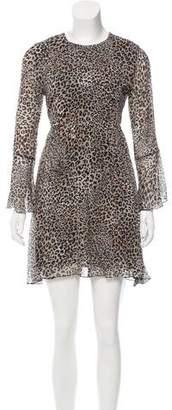 Beau Souci Leopard Print Mini Dress w/ Tags