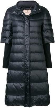 Twin-Set long padded coat