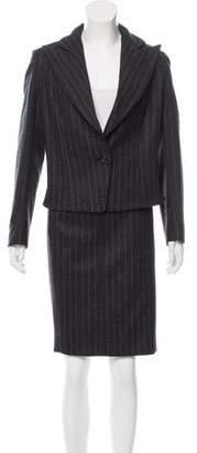Saint Laurent Pinstripe Wool Skirt Suit w/ Tags