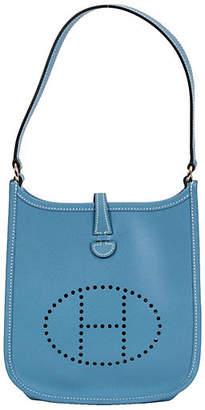 One Kings Lane Vintage Hermès Mini Blue Jean Evelyne Bag