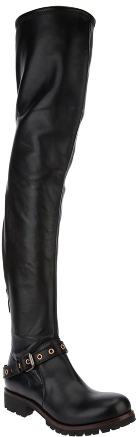 Sergio Rossi thigh high boot