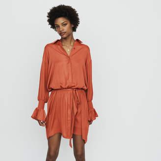 Maje Shirt dress with smocks
