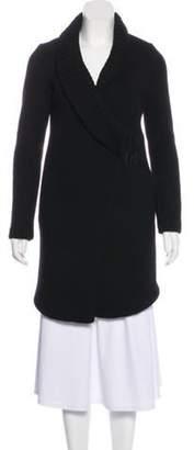 Helmut Lang Wool Knee-Length Coat Black Wool Knee-Length Coat