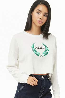 Forever 21 Female Graphic Crop Top