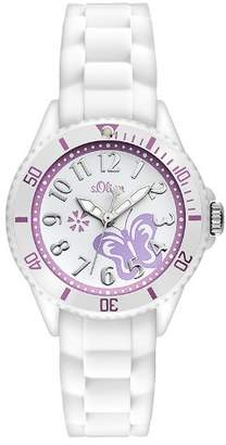 S'Oliver Girls' Analogue Quartz Watch with Silicone Strap – SO-2755-PQ