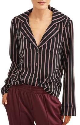 L.N.V Women's Printed Pajama Shirt