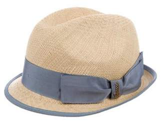 Gucci Bow-Accented Straw Fedora Tan Bow-Accented Straw Fedora