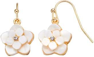 Lauren Conrad Mother-of-Pearl Tiered Flower Nickel Free Drop Earrings