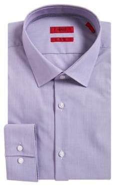 HUGO BOSS Joey Textured Slim-Fit Dress Shirt