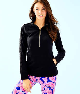 Lilly Pulitzer Womens Skipper Solid Popover - Lace Sleeve