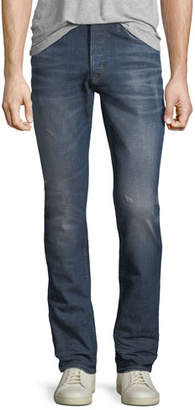 Hudson Men's Sartor Slouchy Distressed Skinny Jeans, All City Blue