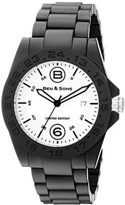 Ben & Sons Men's 'General' Swiss Quartz Ceramic Casual Watch