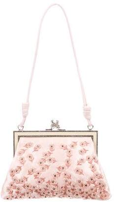 Valentino Beaded Satin Frame Clutch