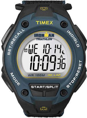 Timex Ironman Mens Black Nylon Fast Strap 30-Lap Watch T5K4139J