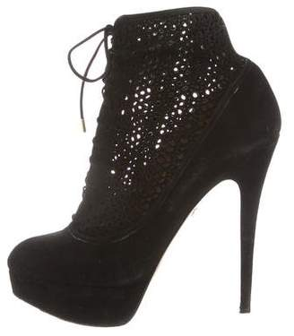 Charlotte Olympia Platform Laser Cut Ankle Boots