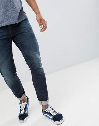 Benetton Skinny Fit Jeans in Mid Wash