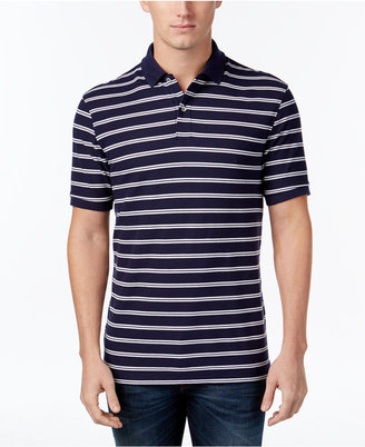Club Room Men's Performance Striped Polo, Only at Macy's $9.99 thestylecure.com