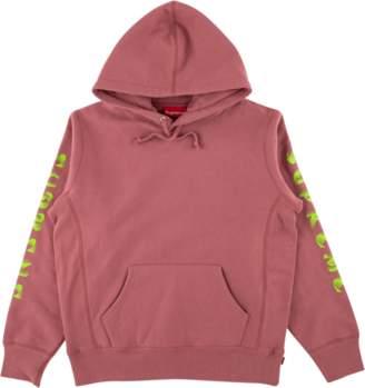 Supreme Gradient Sleeve Hooded Sweatsh - 'FW 18' - Dark Rose