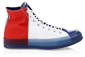 Converse Men's Translucent Midsole Chuck 70 High-Top Colorblock Canvas Sneakers