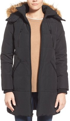 Women's Guess 'Expedition' Quilted Parka With Faux Fur Trim $228 thestylecure.com