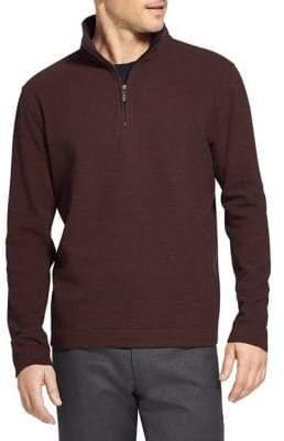 Van Heusen Quarter-Zip Ottoman Sweater
