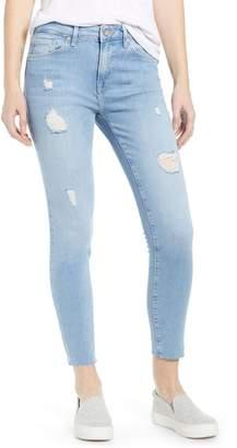 Mavi Jeans Tess High Waist Ripped Ankle Skinny Jeans