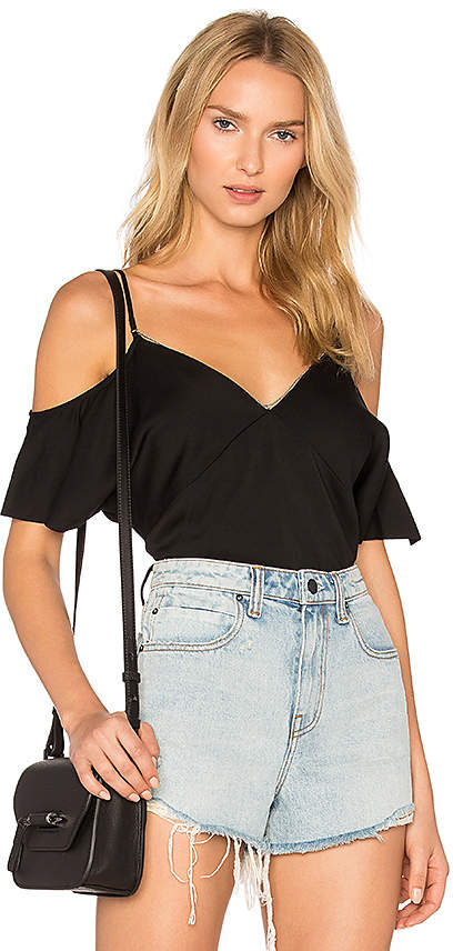 T by Alexander Wang Cold Shoulder Chain Top