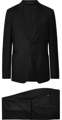 Ermenegildo Zegna Black Slim-Fit Wash & Go Techmerino Wool-Flannel Suit